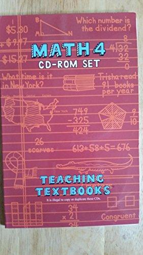 Math 4 CD-ROM Set (Teaching Textbooks) (4 CD's) (Best Math For Dyslexics)