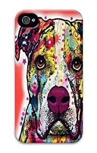 iPhone 4S Case,American Bulldog PC case Cover for iPhone 4 and iPhone 4S 3D