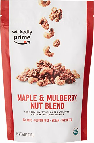 Wickedly Prime Organic Sprouted Nut Blend, Maple and Mulberry, 6 Ounce Maple Walnut