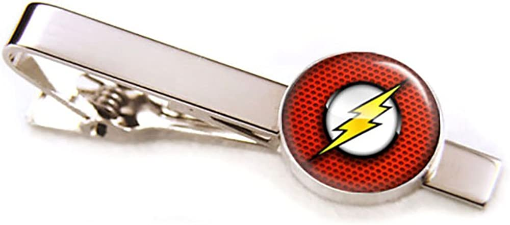 SharedImagination Flash Cufflinks, The Justice League Jewelry, Avengers Tie Clip Tack, Cuff Links Link, Groomsmen Gift Wedding Party Gifts