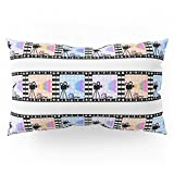 Society6 Movie Stripes Pillow Sham King (20'' x 36'') Set of 2
