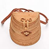 Women's Bag, Fashion Bag - Summer Women's Bag - Hand-Woven Rattan Bag - Crossbody Beach Bag