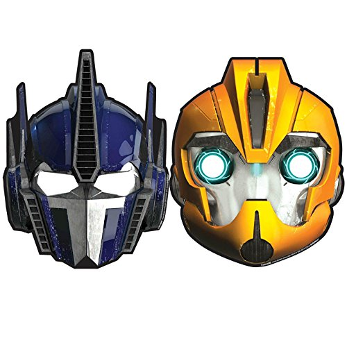 Masks 8/Pkg-Transformers 4 by American Greetings