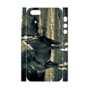 3D Bumper Plastic Customized Case Of Horse for iPhone 5,5S