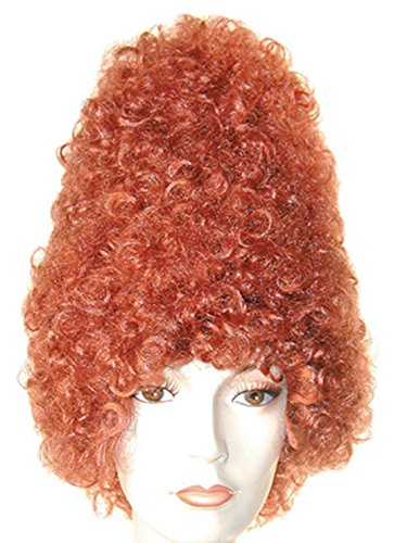 ADULT CURLY BEEHIVE COSTUME WIG (black) ()