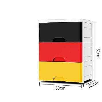 Axiba Cajas de almacenaje Caja de Almacenamiento de Ropa de Almacenamiento Caja cajón plástico Tipo Almacenamiento gabinete Infantil Caja de Acabado: ...