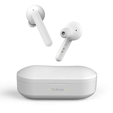 Mobvoi TicPods Free Son Auriculares Bluetooth inalámbricos auténticos con Estuche de Carga, Resistente al Agua