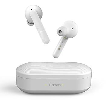 Mobvoi TicPods Free Son Auriculares Bluetooth inalámbricos auténticos con Estuche de Carga, Resistente al Agua, Audio nítido y Claro en Ambos oídos, ...