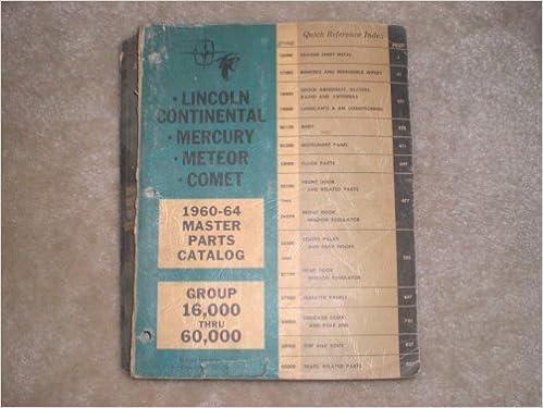 1960-1964 Master Parts Catalog Group 16, 000 Thru 60, 000
