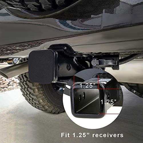 2 Trailer Hitch Cover Tube Plug Insert Cap Rubber Universal 2 inch Receiver Class 3 4 5 Ford GMC Toyota Jeep Dodge Nissan Audi BMW Porsche Polaris ATV UTV