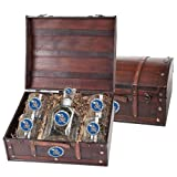 Kansas Jayhawks Capitol Decanter Wood Chest Set