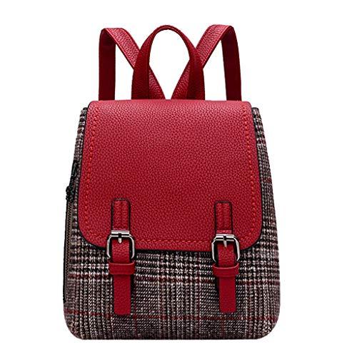 Goddesslili Backpacks Bags British Style Vintage Elegant Formal Leisure for Women Ladies Girls Student (Wine)