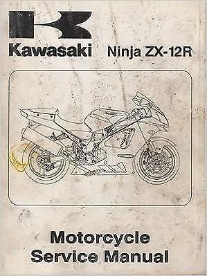 2002 KAWASAKI MOTORCYCLE NINJA ZX-12R SERVICE MANUAL 99924 ...