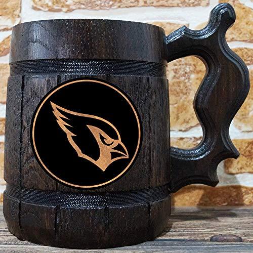 - Arizona Cardinals Beer Mug, American Football Wooden Beer Stein, NFL Sport Gift, Personalized Arizona Cardinals Tankard, Custom Gift for Men, Gift for Him