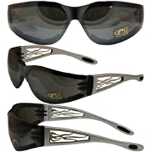 Heat Metal Flame Frame with Light Silver Mirror Lenses