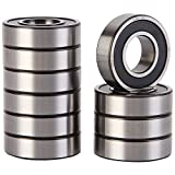 XiKe 10 Pack 6002-2RS Precision Bearings 15x32x9mm, Rotate Quiet High Speed and Durable, Double Seal and Pre-Lubricated, Deep Groove Ball Bearings.