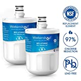 Waterdrop LT500P Refrigerator Water Filter Replacement for LG LT500P, 5231JA2002A, ADQ72910901, ADQ72910907, Kenmore GEN11042FR-08, 9890, 469890, 46-9890 (2 Pack)