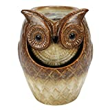 Nature's Garden Stone Finish Owl Fountain