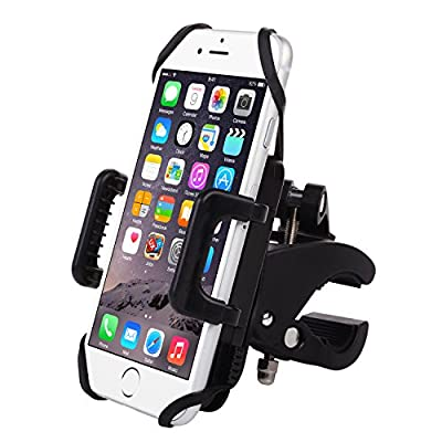 Bike Mount- Emixc Universal Phone Bicycle &Motorcycle Holder 360 Degrees Rotatable Cradle Clamp for iOS Android GPS Rubber Strap Fit Any Smartphone by Emixc