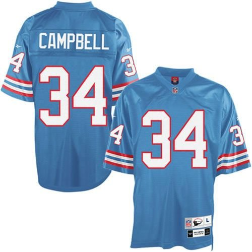Earl Campbell Houston Oilers Mitchell & Ness Throwback Retro Replica Jersey (Blue) M