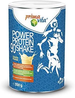 Primavita - Batido Proteína 90 con 5 fuentes complementarias de proteína, sabor a vainilla, 350 g (11-12 raciones)