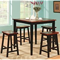 Coaster Black Oak Finish Pub Dining Set