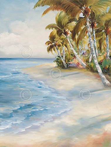 トロピカルRetreat Marc Lucien Coastal Beach Landscape Palmポスター(選択サイズ、印刷またはキャンバス) 18x24 Print BM-L632l 18x24 Print  B00S5E92OS