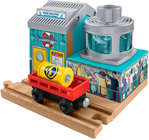 Fisher-Price Thomas & Friends Wooden Railway, Shark Food Delivery - Railway Aquarium Wooden Thomas