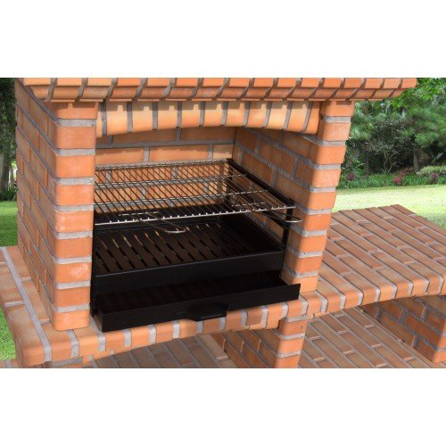 Sauvic 02729 - Cajón para barbacoa con parrilla inoxidable, 70 x 40 cm: Amazon.es: Jardín