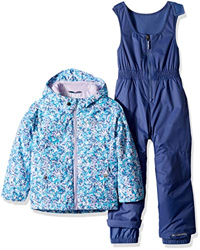 Columbia Kids & Baby Toddler Frosty Slope Set, Soft Violet Floral Print, 2T
