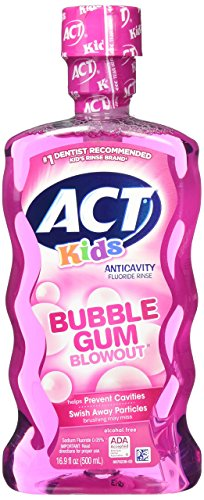 Act Bubble Gum Kids Ac Ri Size 16.9z Act Anti Cavity Kids Flouride Rinse Bubble Gum Blowout 16.9 Fluid Ounce, 3 - Bubble Rinse