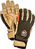 Hestra Outdoor Work Gloves: Ergo Grip Riding Cold Weather Gloves, Dark Forest/Natural Brown, 10