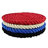 Twisted Cotton Rope (3/8 inch) - SGT KNOTS - All Natural Fiber Cord - Durable and Versatile Utility Rope - Crafting, DIY Use, Binding, Home Decor, Camping, Boating, Marine (50 feet - Royal Blue)