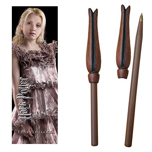 Harry Potter Luna Wand Pen and Bookmark]()