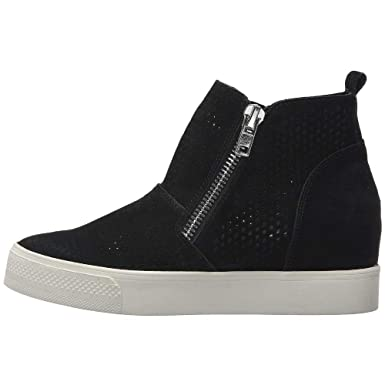 Women s Wedge Sneakers Platform Side Zipper Hollow out High Top Faux Suede  Causal Flat Shoes