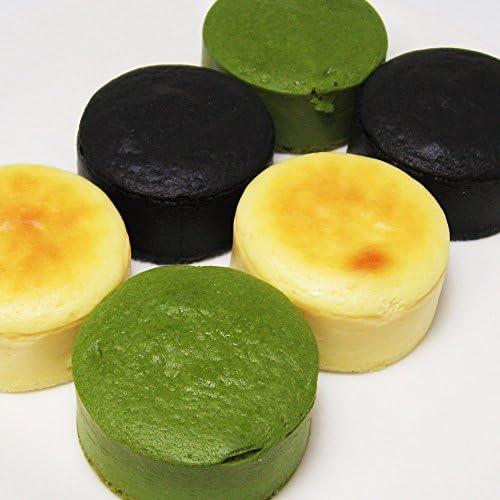 千年の香り 千紀園 濃チーズケーキ 宇治抹茶・クリーム・竹炭 各種 2個入 計6個