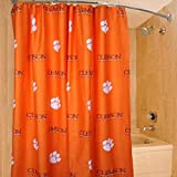 College Covers Clemson Tigers Shower Curtain