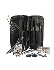 28-Piece Lock Pick Set with Transparent Padlock Picking Tool Kit Practice Lock Set for Beginners and Pro Locksmiths