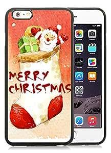 Individualization iPhone 6 Plus Case,Merry Christmas Black iPhone 6 Plus 5.5 TPU Case 28