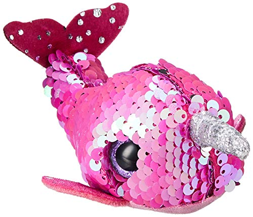 """T&Y Ty Teeny Flippables Nelly - Sequin Pink Narwhal 4"""""""