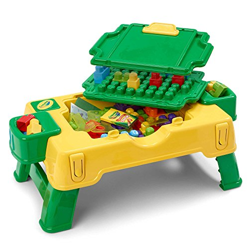 Super Fun Building Blocks 30-Piece 2-in-1 Activity Table By Crayola, Suitable For Ages 3-6 Years by Generic