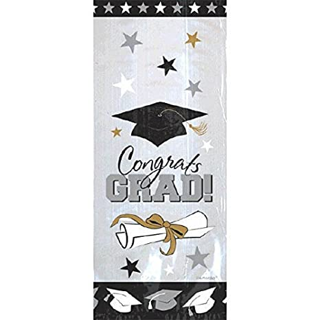 Graduation Party Favour Cello Bags, Plastic, 9