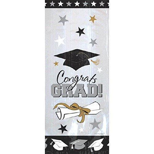 Amscan Graduation Cello Bags | Party Favor | Pack of 20 -