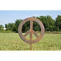 Metal Peace Sign Garden Stake - Sizes Medium, Large, Extra Large