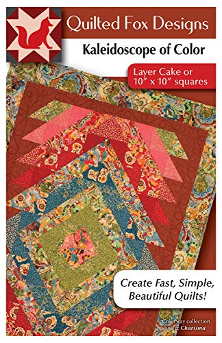 Kaleidoscope of Color Quilt Pattern: Layer Cake or 10