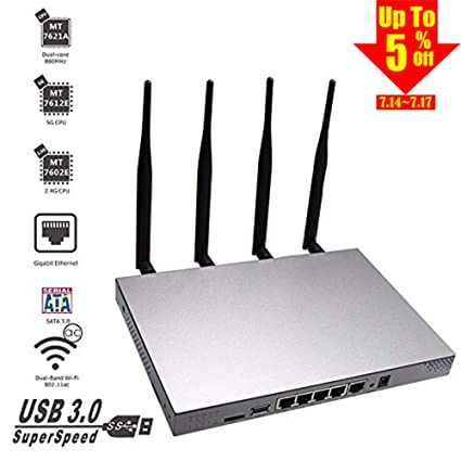 KuWFi 802 11AC 1200Mbps Dual Band 2 4GHz 5 0GHz Wireless WiFi Router  MT7621A chipset Gigabit Port OpenWrt Wireless Router