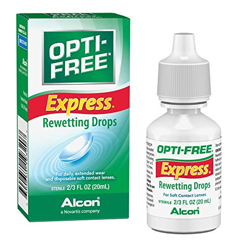 OPTI-FREE Express Rewetting Drops, -