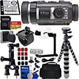 SiOnyx Aurora Black Water-Resistant IR Night Vision Camera with Basic Action Bundle - Includes: SanDisk Extreme 32GB microSDXC Memory Card with Adapter, 3-Way Pipe Mount, Flexible Tripod and Much More