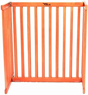 product image for Dynamic Accents Freestanding Pet Gate 30 Inch Small Cherry