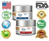 Pain Relief Hemp Oil Balm - 2 one ounce Jars - 99.9% Pure with 50mg...